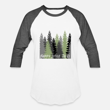 Happy Little Trees T-Shirts & Gifts Bob Style Ross - Unisex Baseball T-Shirt