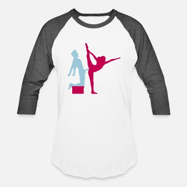 Iron Man Yoga figure fitness splits sexy girl female hot cu - Baseball T-Shirt
