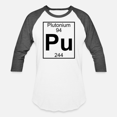 Plutonium Element 94 - pu (plutonium) - Full - Unisex Baseball T-Shirt