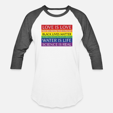 rainbow solidarity - Unisex Baseball T-Shirt