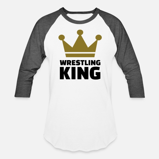 Wrestle T-Shirts - Wrestling - Unisex Baseball T-Shirt white/charcoal