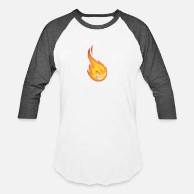 Flaming Flame - Baseball T-Shirt