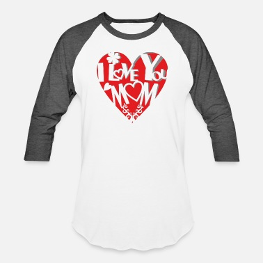 Motherly Love Sweet cut out heart - motherly love - Baseball T-Shirt