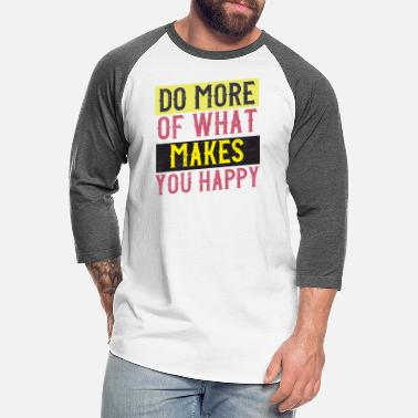 Typo Collection happy vintage style quote - Unisex Baseball T-Shirt