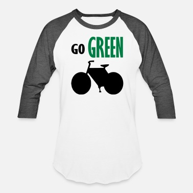 Go Green Logo go green - Baseball T-Shirt