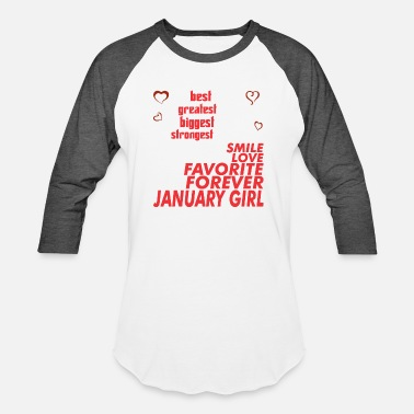 My Girlfriend January My Girlfriend Is January Girl - Baseball T-Shirt