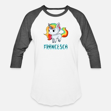 Francesca Francesca Unicorn - Baseball T-Shirt