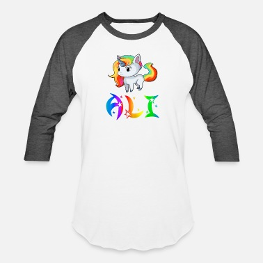 Alicja Ali Unicorn - Unisex Baseball T-Shirt