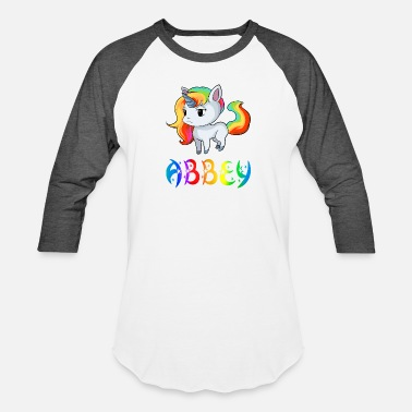 Abbey Abbey Unicorn - Unisex Baseball T-Shirt