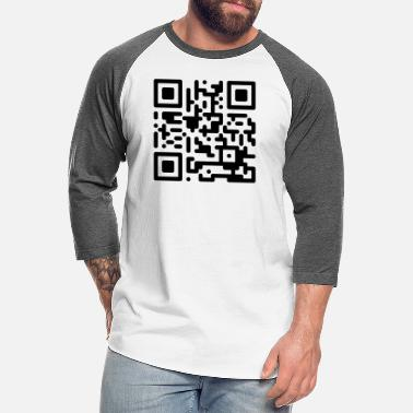 Qr-code QR Codes are Dumb - Black - Unisex Baseball T-Shirt