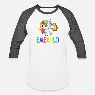 Emerald Emerald Unicorn - Unisex Baseball T-Shirt