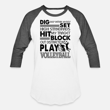 Funny Volleyball Funny Play Volleyball Shirt - Baseball T-Shirt