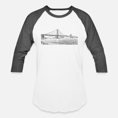 Gate Golden Gate Bridge San Francisco - Unisex Baseball T-Shirt