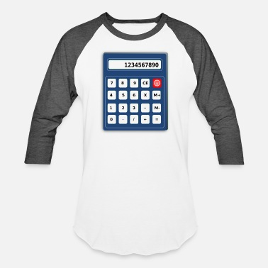 Calculator Calculator - Unisex Baseball T-Shirt
