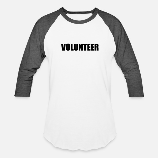 Volunteer T-Shirts - volunteer - Unisex Baseball T-Shirt white/charcoal
