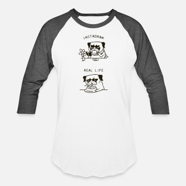 Funny Dog my social life living - Unisex Baseball T-Shirt