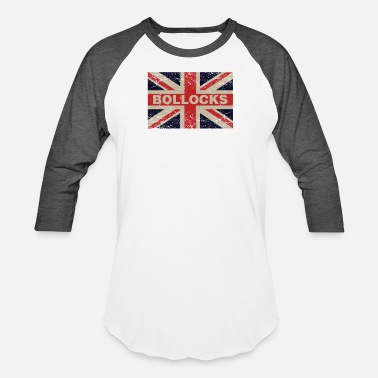 Union Bollocks On British Distressed Flag English - Unisex Baseball T-Shirt