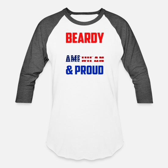 Beard T-Shirts - BEARDY - Unisex Baseball T-Shirt white/charcoal
