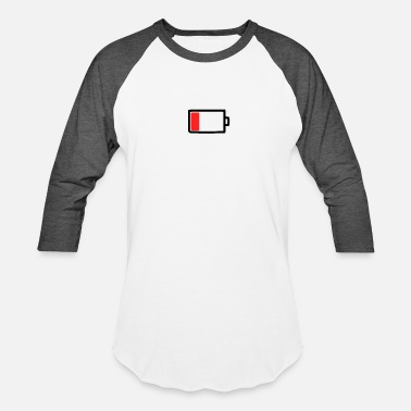 Mobile Phone Mobile phone battery empty - Baseball T-Shirt
