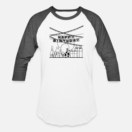 Birthday T-Shirts - Happy Birthday to you special Gift Idea - Unisex Baseball T-Shirt white/charcoal