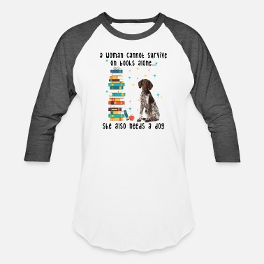 BOOK AND GERMAN SHORTHAIRED POINTER - Unisex Baseball T-Shirt