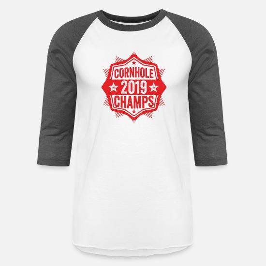 d03f01b4 Cornhole T-Shirts - Cornhole Champion 2019 T-Shirt Distressed Vintage - Unisex  Baseball