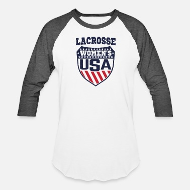 4669ef4d USA Women's Lacrosse Shield T-Shirt Female Lax - Unisex Baseball