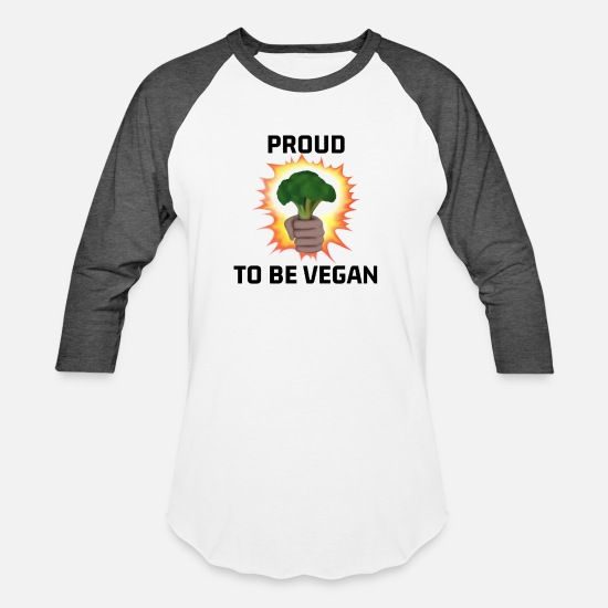 Love T-Shirts - Proud to be Vegan Design for Men, Women and Kids - Unisex Baseball T-Shirt white/charcoal