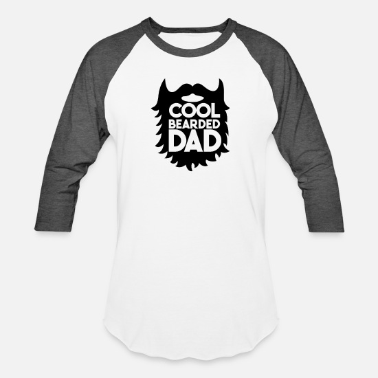 Beard T-Shirts - Cool Bearded Dad - Bearded Dad Gift Funny - Unisex Baseball T-Shirt white/charcoal