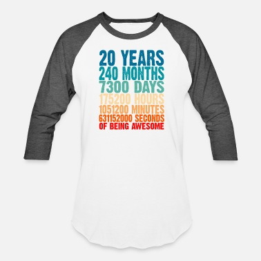 20 Years 20 Years Of Being Awesome Gifts 20 Years Old 20 - Unisex Baseball T-Shirt