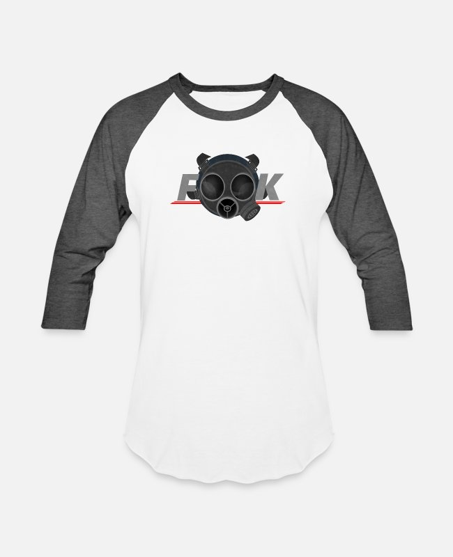 Pro Gamer T-Shirts - Facemask fook art game rainbow six siege - Unisex Baseball T-Shirt white/charcoal