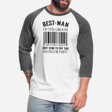 Geschenk Best Man Of The Groom - Scan To Pay This Bachelor - Unisex Baseball T-Shirt