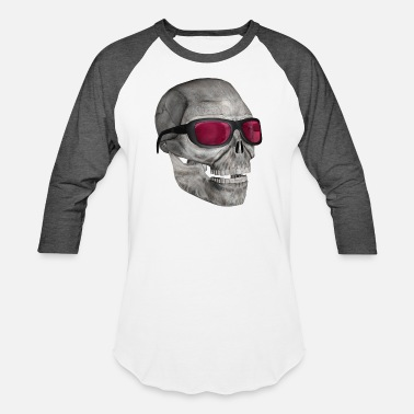 Witty skull with sunglasses 3000 (DD) - Unisex Baseball T-Shirt