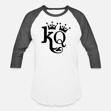 King Queen king and queen - Unisex Baseball T-Shirt
