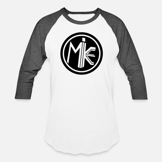 Vision T-Shirts - Mike Circle Shirt - Unisex Baseball T-Shirt white/charcoal