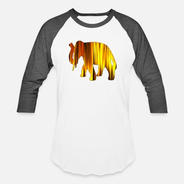 Digital Art Elephant digital Art - Unisex Baseball T-Shirt