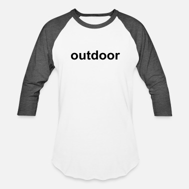 Outdoor outdoor - Unisex Baseball T-Shirt