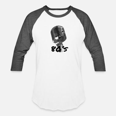 Microphone Retro Music Microphone Sketch Vintage Audio - Unisex Baseball T-Shirt