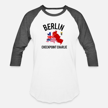 West Berlin Berlin Checkpoint Charlie Ost West DDR Deutschland - Unisex Baseball T-Shirt