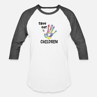 Save Rainbow Save Our Children End Human Trafficking - Unisex Baseball T-Shirt