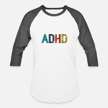 Adhd Father ADHD Awareness Retro Vintage Distressed Gift - Unisex Baseball T-Shirt