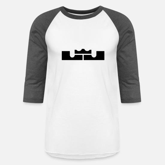 d0b038930 James T-Shirts - LeBron James Logo - Unisex Baseball T-Shirt white
