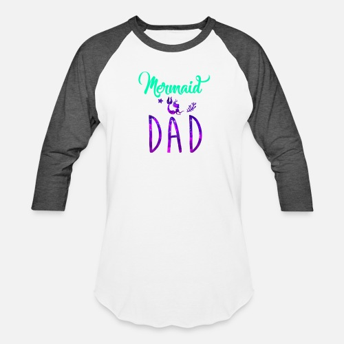 Mermaid Dad Birthday Party Shirt Unisex Baseball T