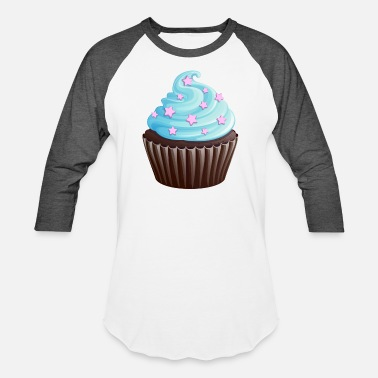 Cooking Desserts Cupcake with stars - Unisex Baseball T-Shirt