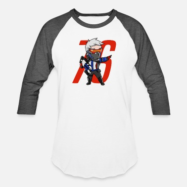 Overwatch 76 Cute Soldier 76 from Overwatch - Baseball T-Shirt