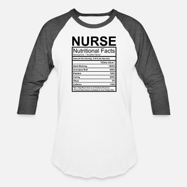 Nutrition Nurse Nutritional Facts - Unisex Baseball T-Shirt