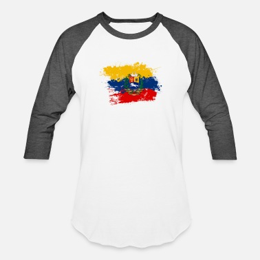 Flag Of Venezuela Flag of Venezuela and coat of arms - Unisex Baseball T-Shirt