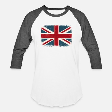 British-flag Distressed British Flag - Unisex Baseball T-Shirt