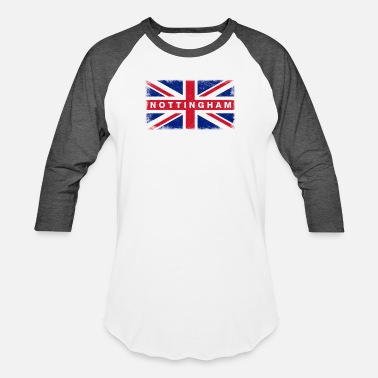 Nottinghamshire Nottingham Shirt Vintage United Kingdom Flag T-Shi - Unisex Baseball T-Shirt