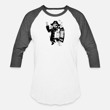 Piracy Piracy - Unisex Baseball T-Shirt